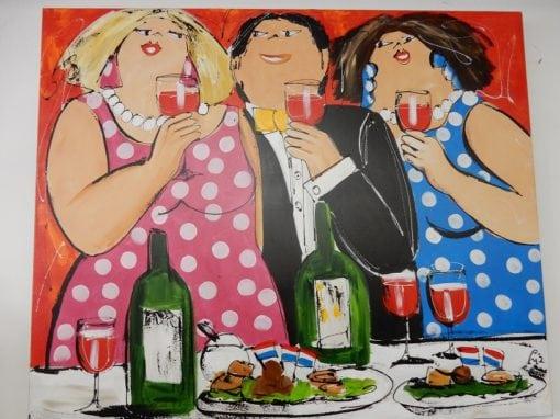 Dikke Dames schilderij met certificaat