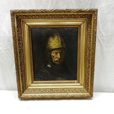 schilderij Man met gouden helm