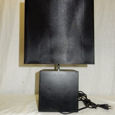 Schemerlamp zwart vierkant