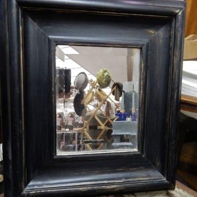 Spiegel facetgeslepen in houten lijst