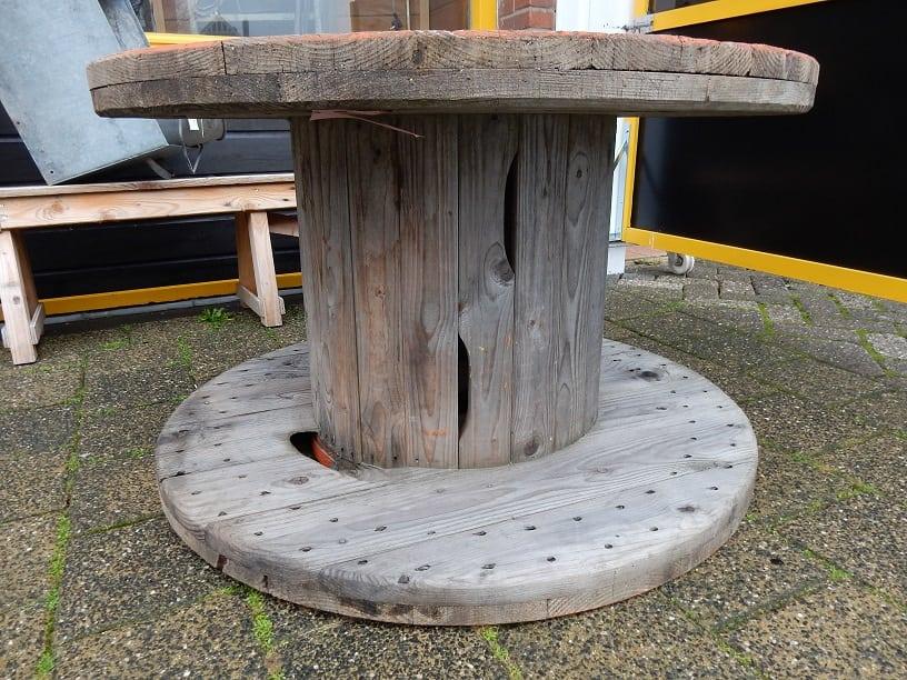 Grote houten haspel VERKOCHT | D'rommels Goed
