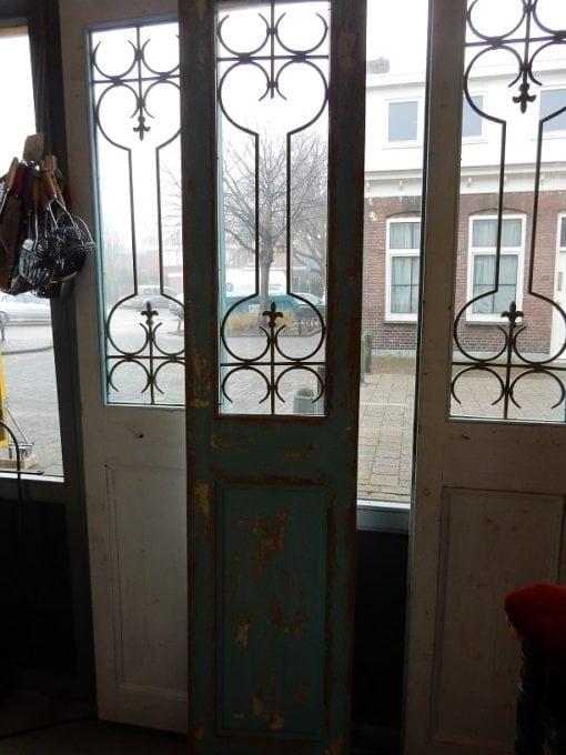 Antieke brocante franse deuren met ijzer