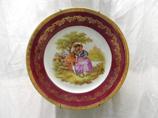 Vintage Goudeville Limoges porseleinen wandbord