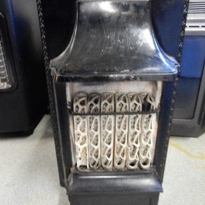 Antieke brocante smeedijzer gas kacheltje