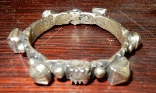 Vintage Berber Marokkaanse Tribal knob Silver Armband