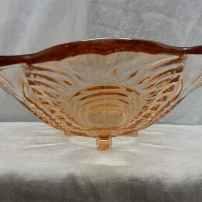 Vintage glazen fruischaal jaren 30