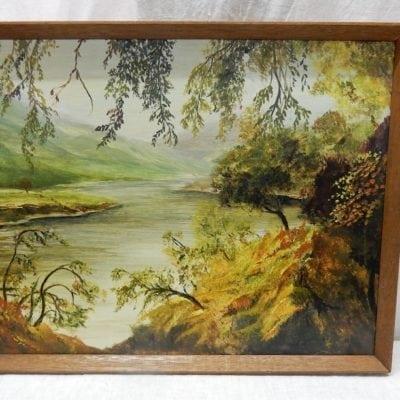 Schilderij olieverf Glen Lyon