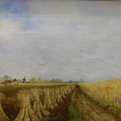 Schilderij landschap P.J. Voerman