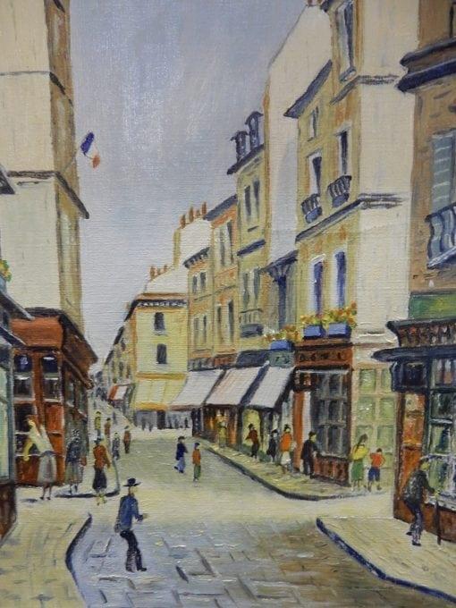 Schilderij Winkelstraat Parijs