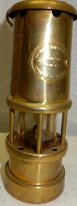 Koperen Hockley Compagny mijnlamp
