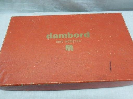 Vintage Jumbo dambord met stenen