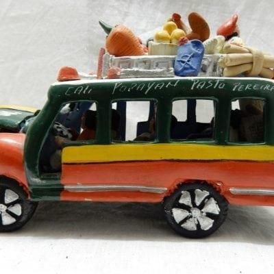 Vintage Chiva miniatuur bus Colombia