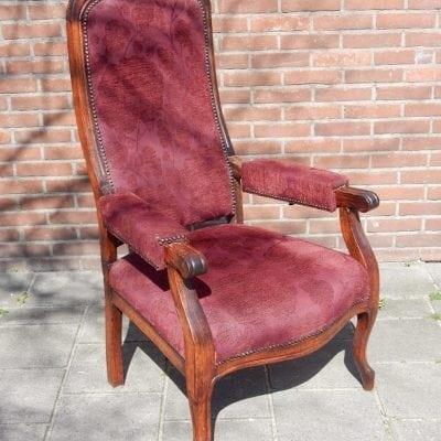 Antieke verstelbare relax fauteuil