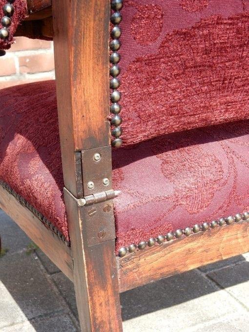 Antieke verstelbare relax fauteuil (4)