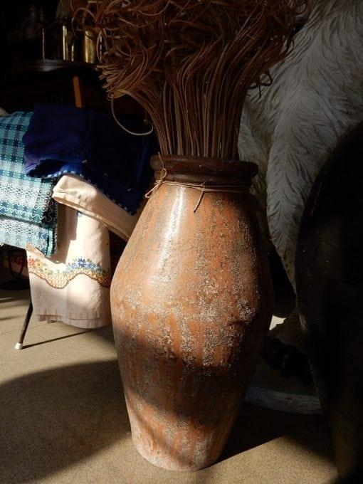 vloervaas terracotta