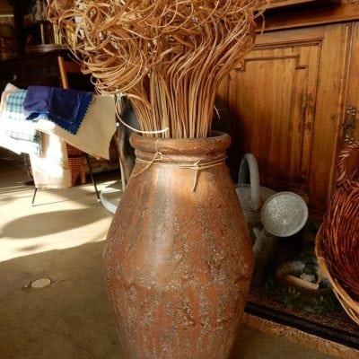 vloervaas terracotta 56 cm