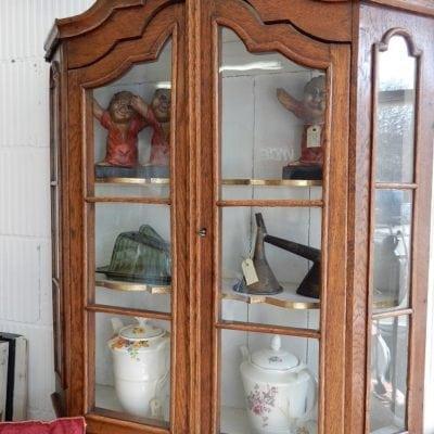 antieke vitrine wandkast
