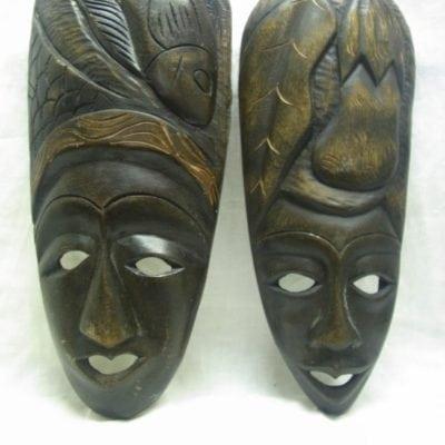 Houten maskers