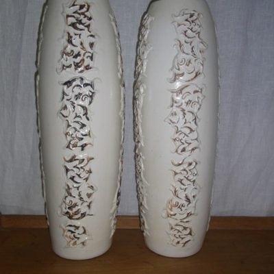 witte vaas 46 cm