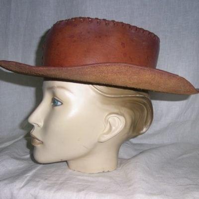 Cowboy hoed leer