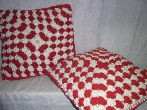 Sierkussens rood wit 45 cm