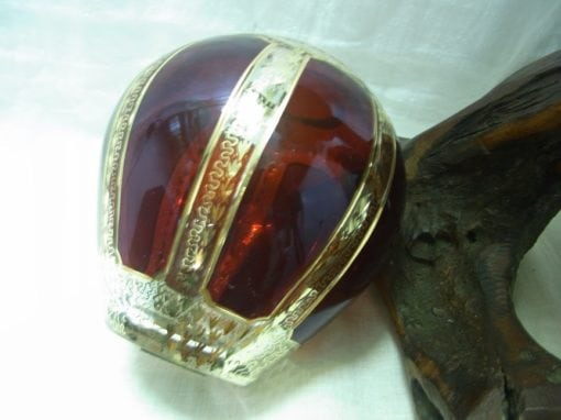 kristallen vaasje rood goud