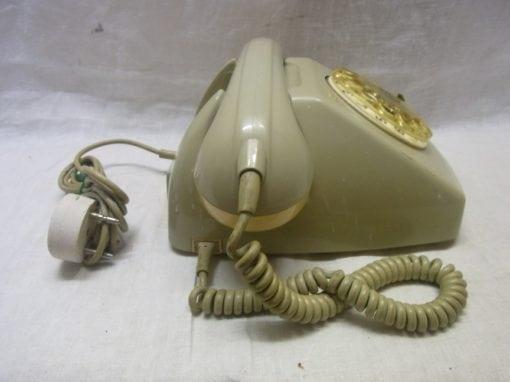 Vintage retro telefoon grijs