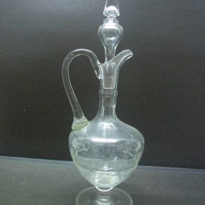kristal geslepen glazen drankfles
