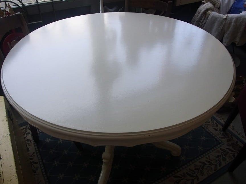 Witte ronde eettafel cm verkocht d rommels goed